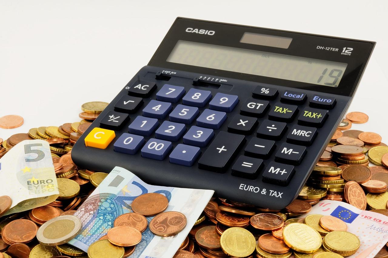 Mynt och miniräknare